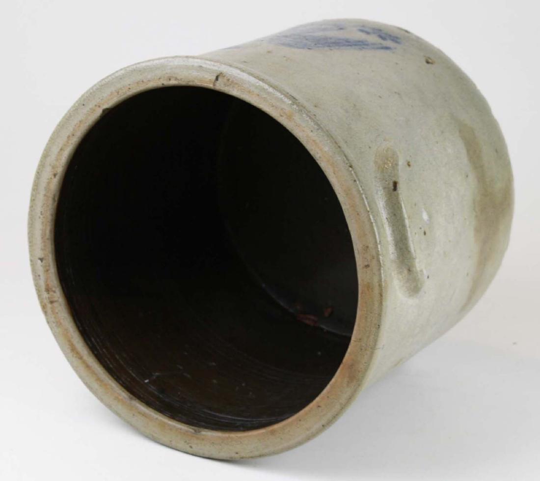2 gallon stoneware crock w/ stenciled eagle - 5