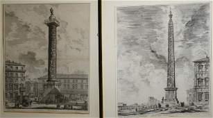 Two Piranesi Architectural engravings