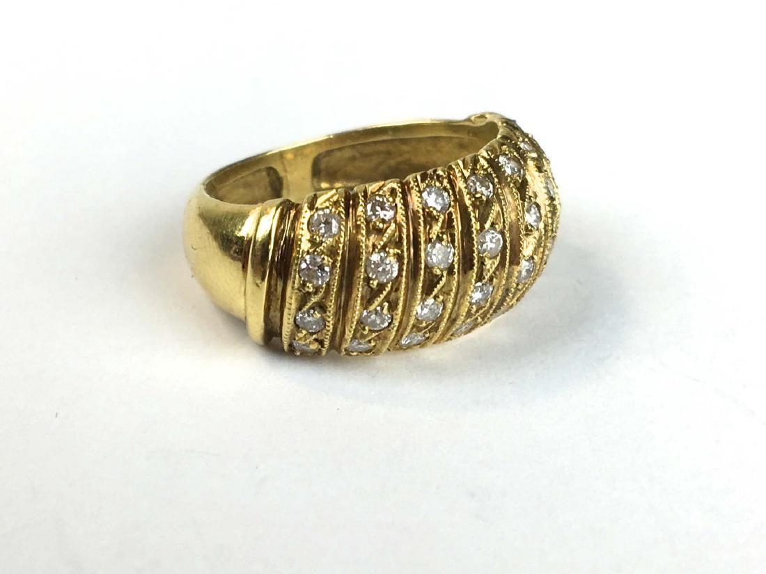 18k y g & diamond ring