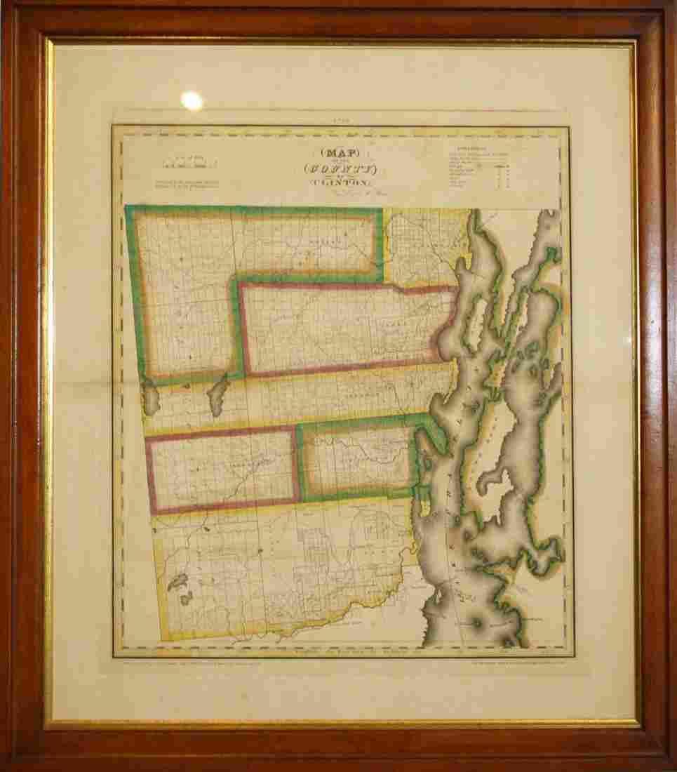 1829 David Burr Clinton County, NY map