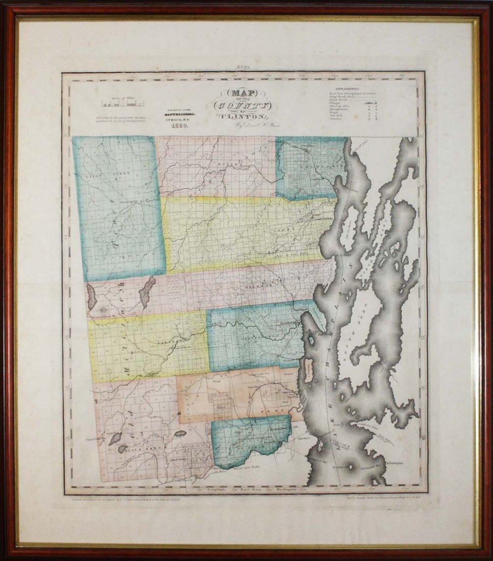 1839 David Burr Clinton County, NY map