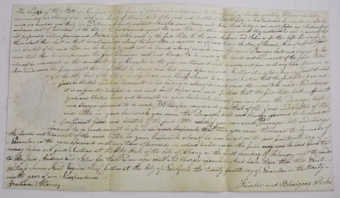 1804 Sherriff Platt lien against Peter Sailly