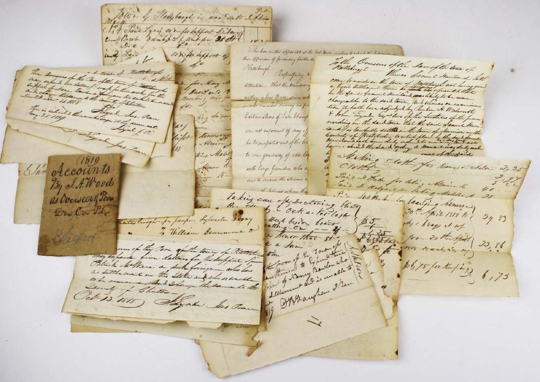 1818 Plattsburgh Overseer of the Poor reciepts