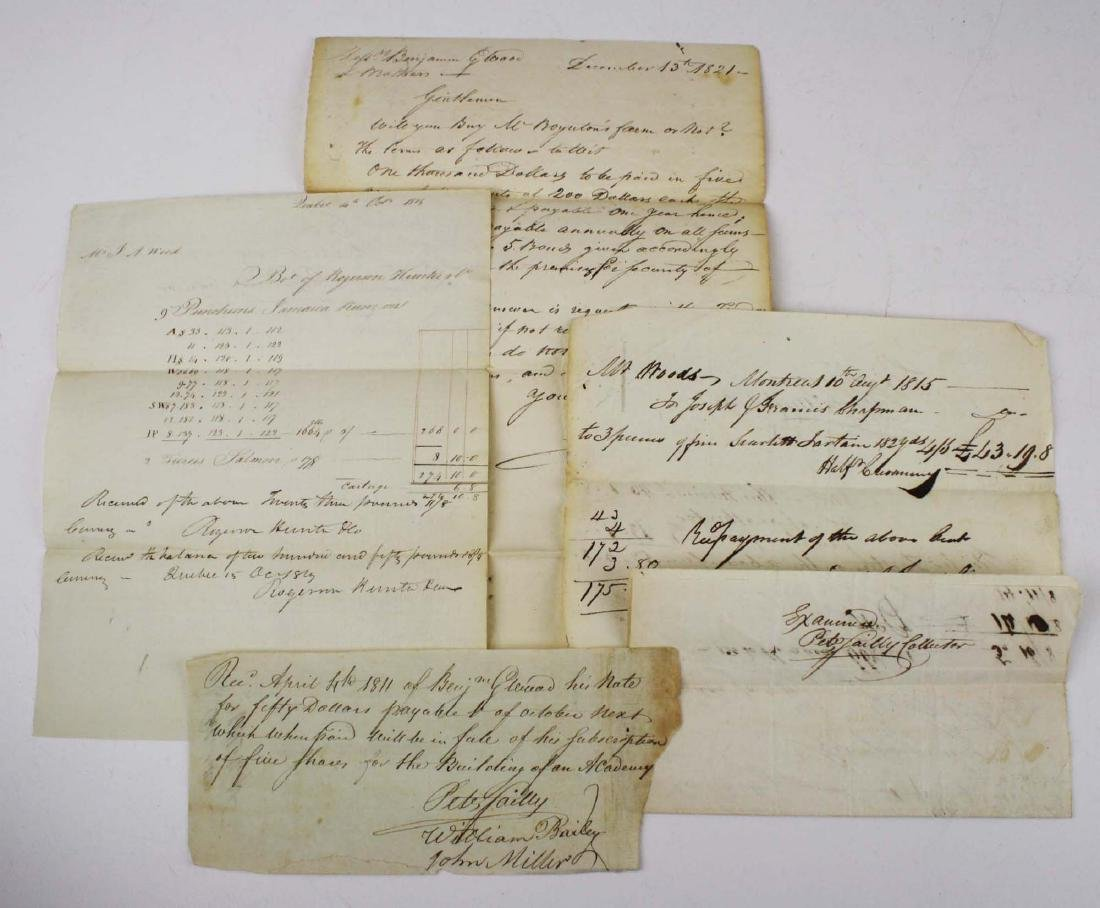1811-1821 Peter Sailly reciepts examined