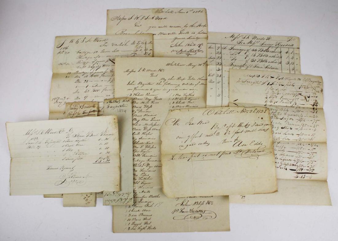 1816-1823 Lake Champlain shipping reciepts