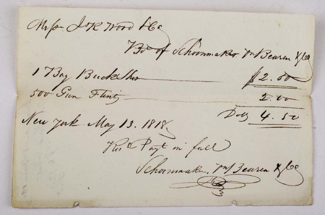 1818 purchase of buckshot & gunflints