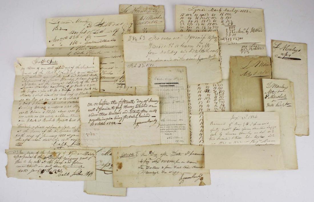 1817-1823 Col Lyman Manley log business