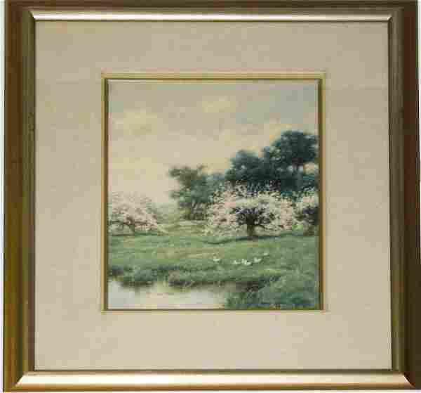 David Clark (Am 20thc) Spring Landscape