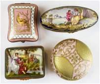 4 porcelain dresser boxes incl. Sevres