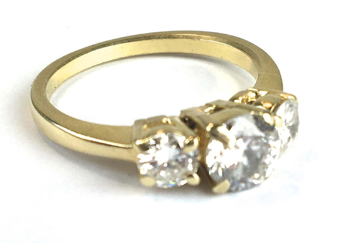 14k y g ladies diamond three stone ring