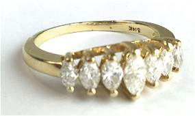 14k y g  diamond ladies ring