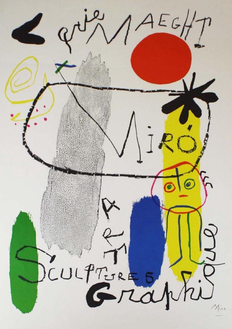 Joan Miro (SP 1893-1983) Galerie Maeght poster