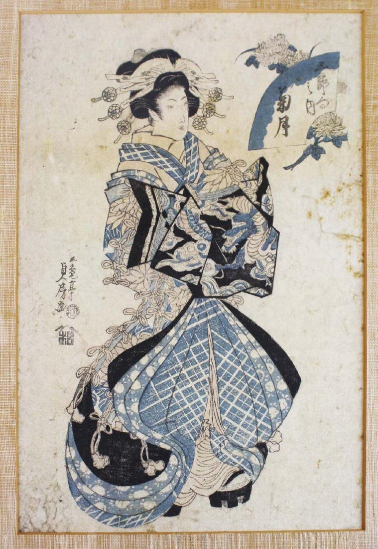 early 19th c Japanese ukiyo-e woodblock print