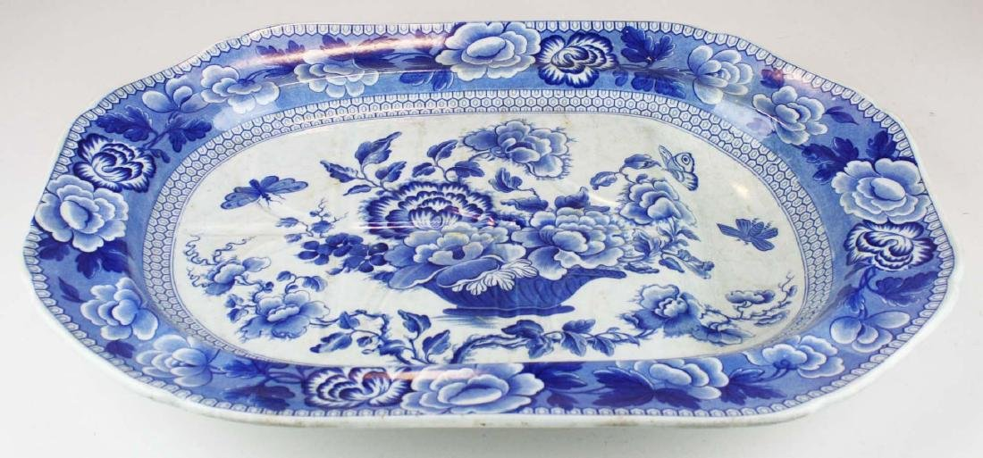 Staffordshire porcelain deep well platter