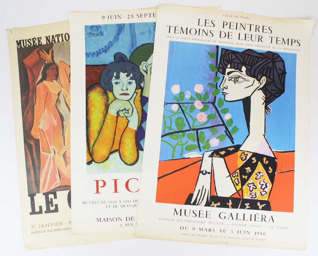 Three 1950's Pablo Piccasso (Sp 1881-1973) Posters