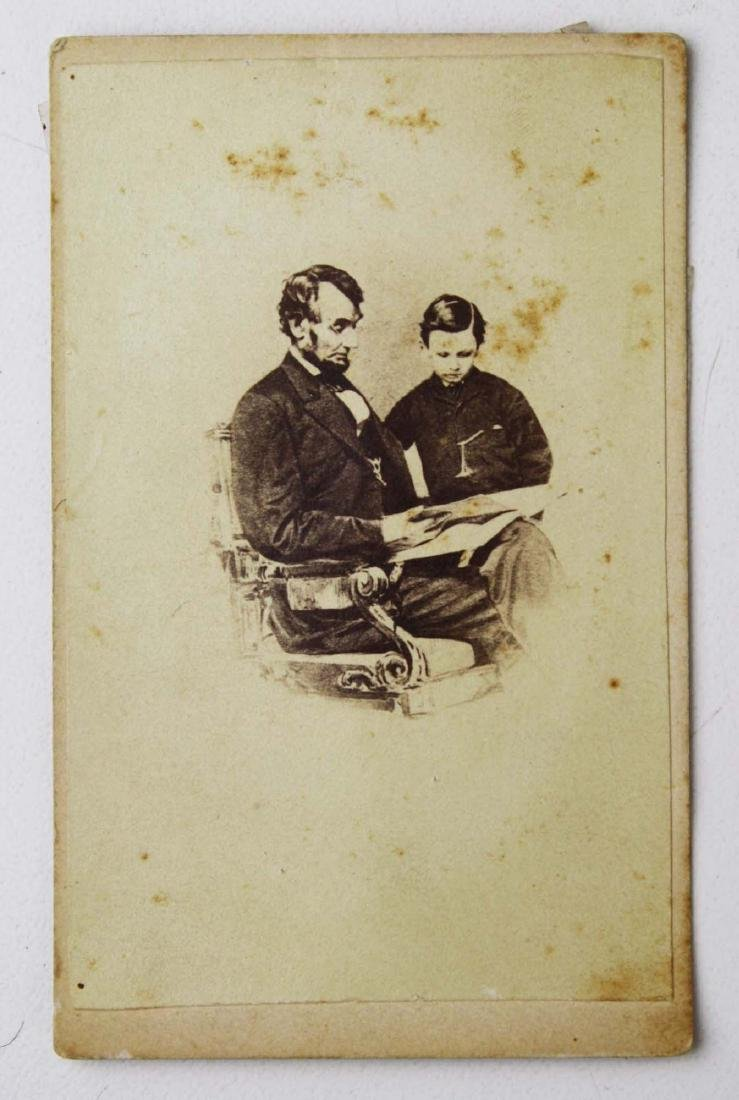 Circa 1864 CDV of Abraham and Tad Lincoln