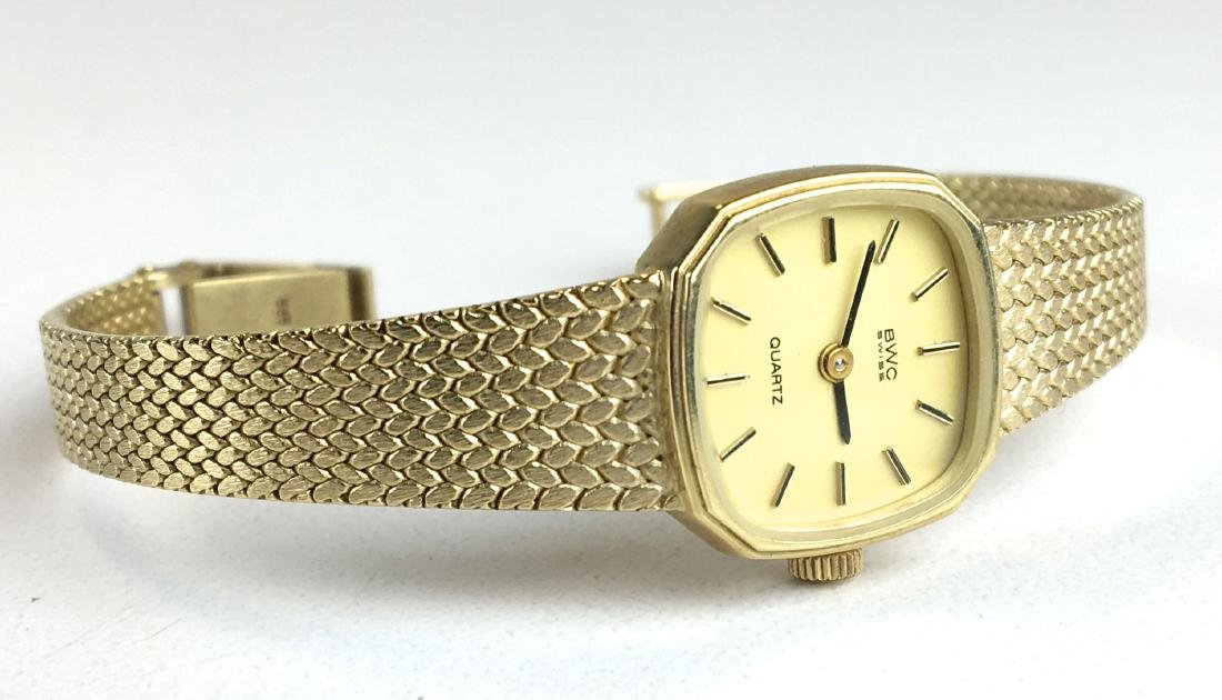 Ladies 14k yellow gold B W C Swiss wrist watch