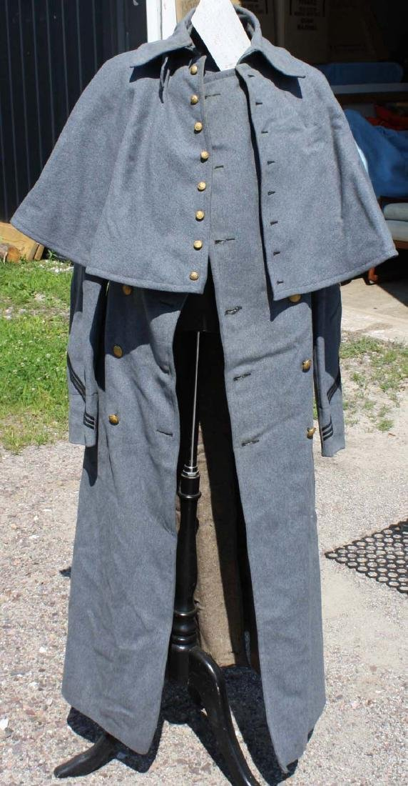 ca 1900 US Military Academy cadet long overcoat