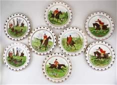 8 Wedgwood equestrian plates