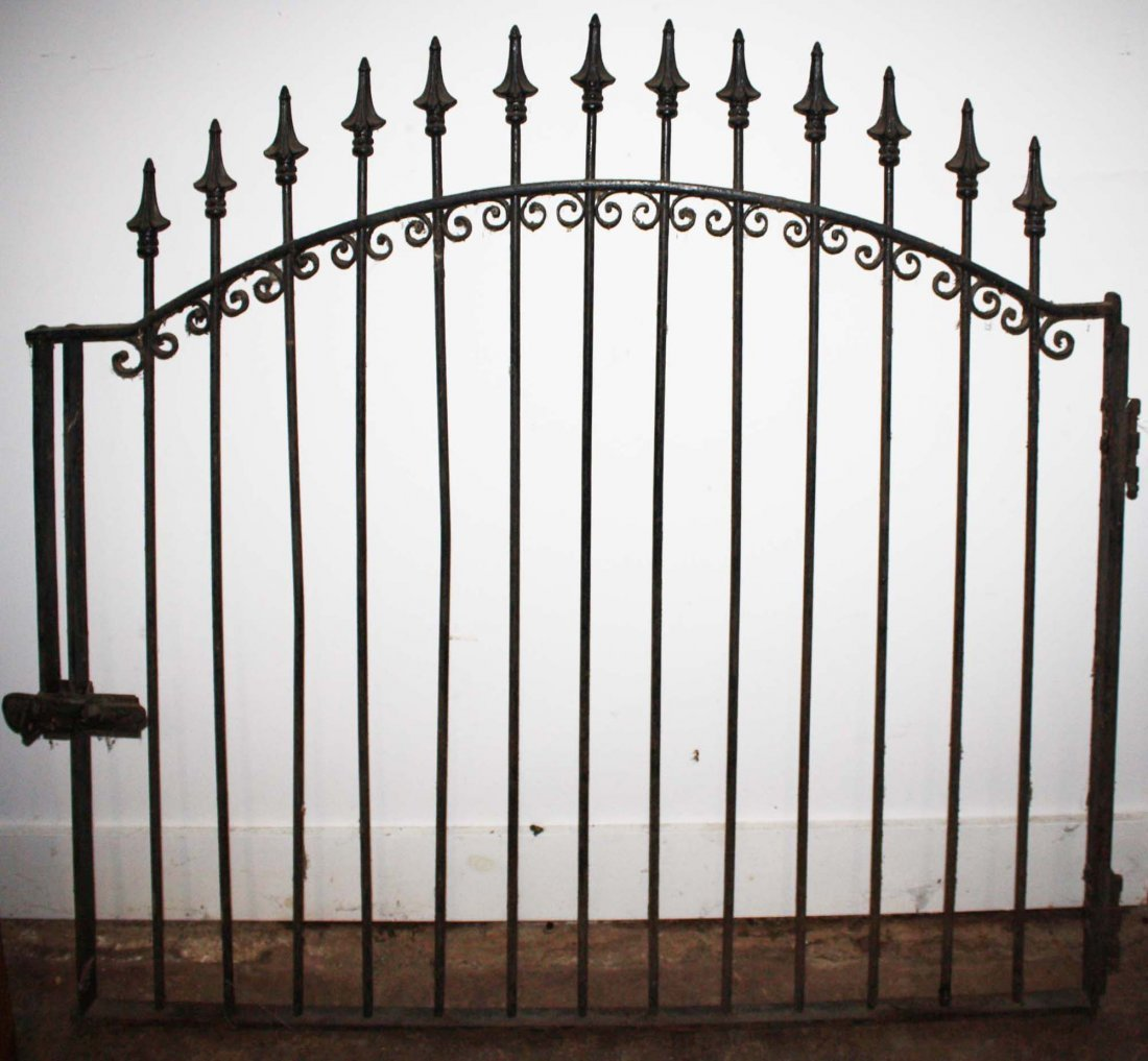 late 19th c cast iron gate