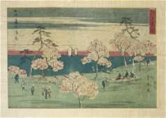 mid 19th c Japanese ukiyo-e woodblock print