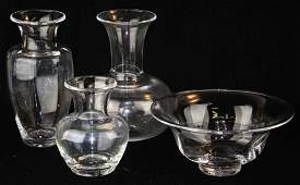 4 pcs Simon Pearce VT art glass