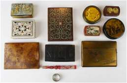 collection of 10 small 19th & 20th c boxes