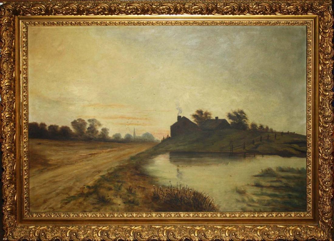 19th c Genre landscape