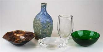 midcentury art glass and studio pottery