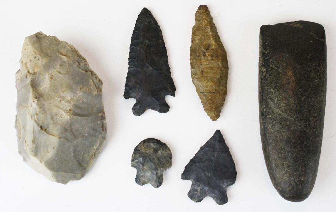 North American prehistoric lithic artifacts