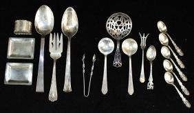16 Pcs. Sterling Silver Tableware