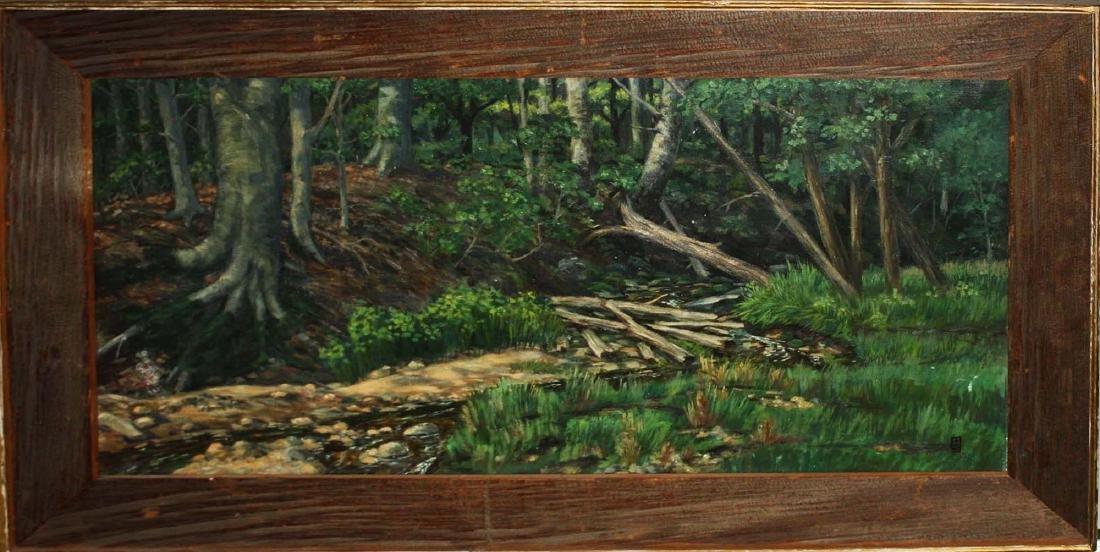 Forest scene with unusualanchor Monogram