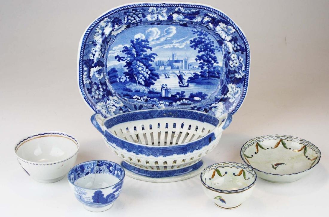 6 pcs early 19th c. porcelain