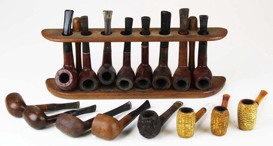16 estate pipes and rack