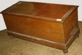 Large Pine Six Board Blanket Box