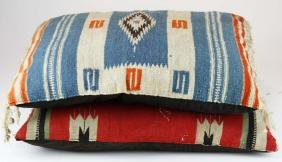 2 Early 20th C Southwest Woven Mats/ Pillows