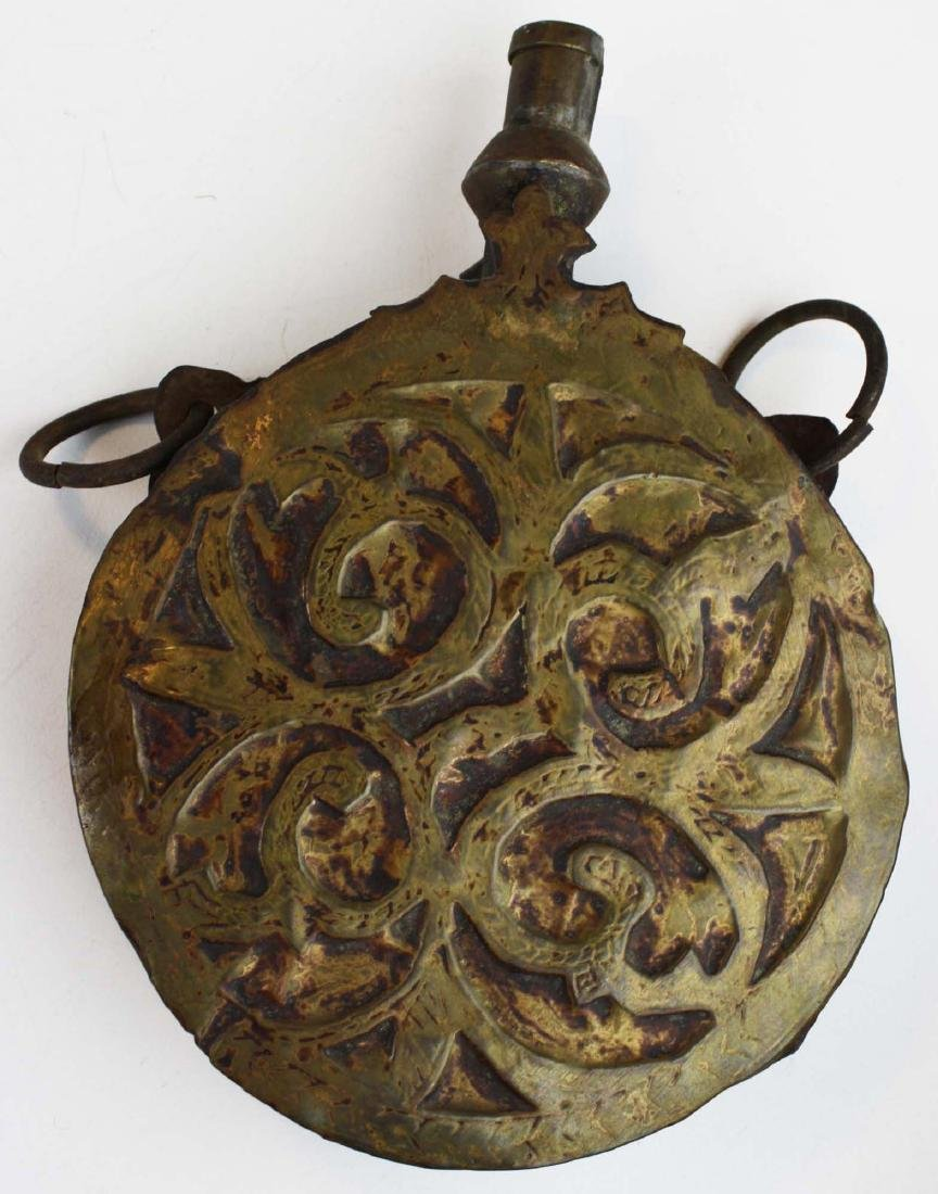 early 20th c Indo-Persian powder flask