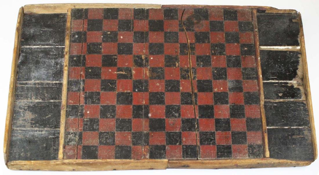 ca 1900 painted wooden gameboard