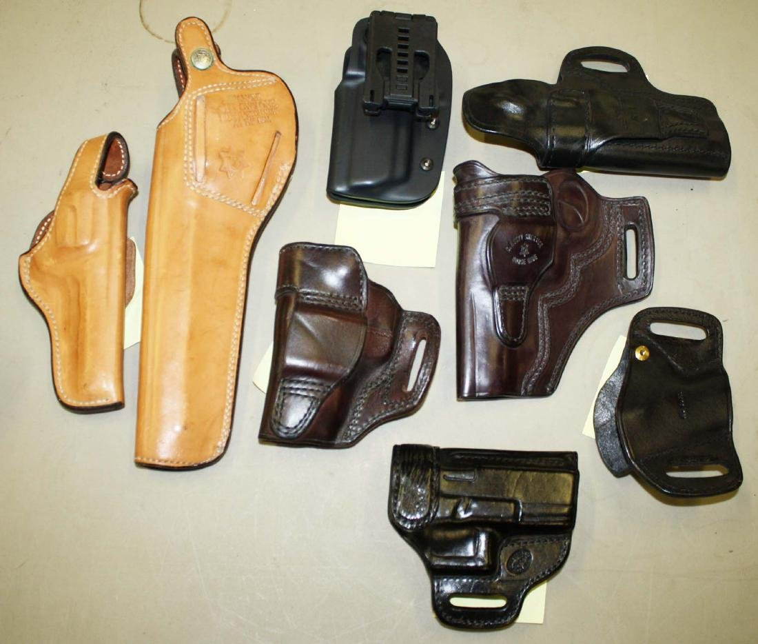 Lot of Leather holsters and cases