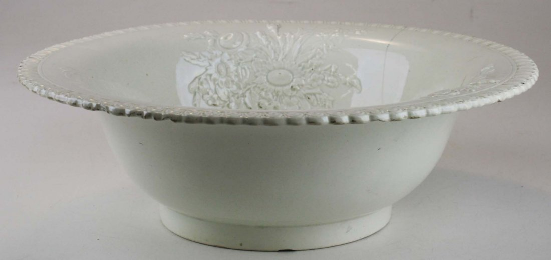 early Creamware wash basin