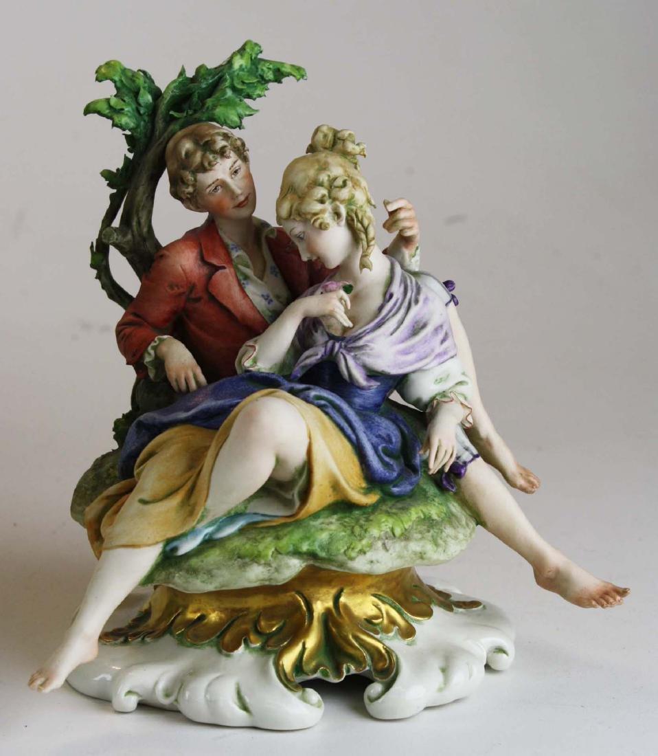 Giuseppe Cappe porcelain figurine group