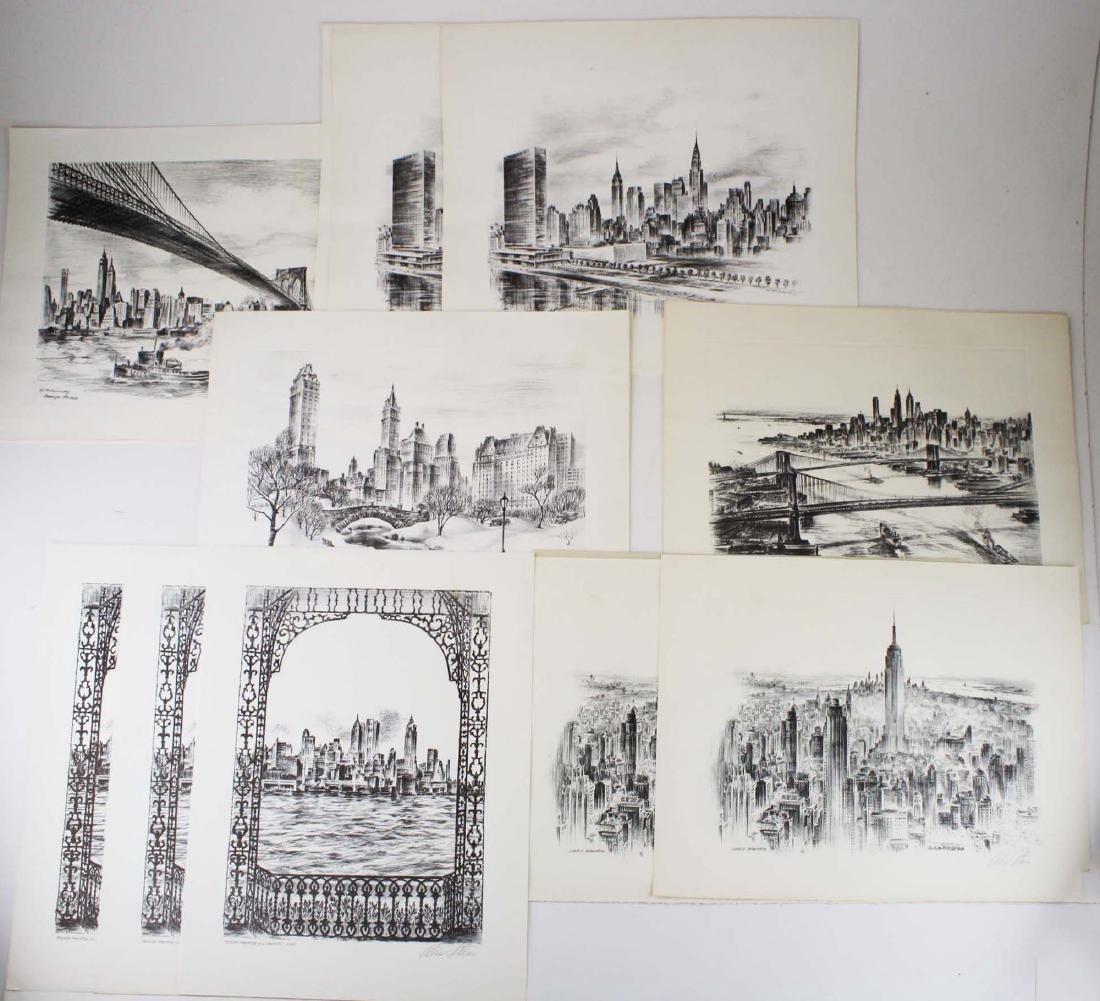 Alex Stern (Am 1904-1994) 10 views of New York