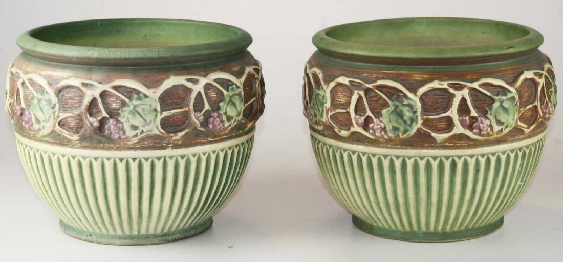 pair of 1920's art pottery jardinieres