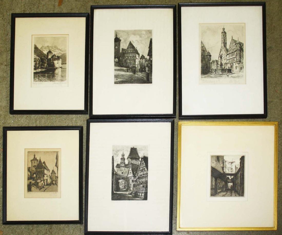 Six Engravings of Europe