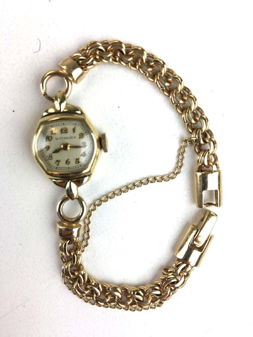 14 k Ladies yellow gold Wittnauer wrist watch