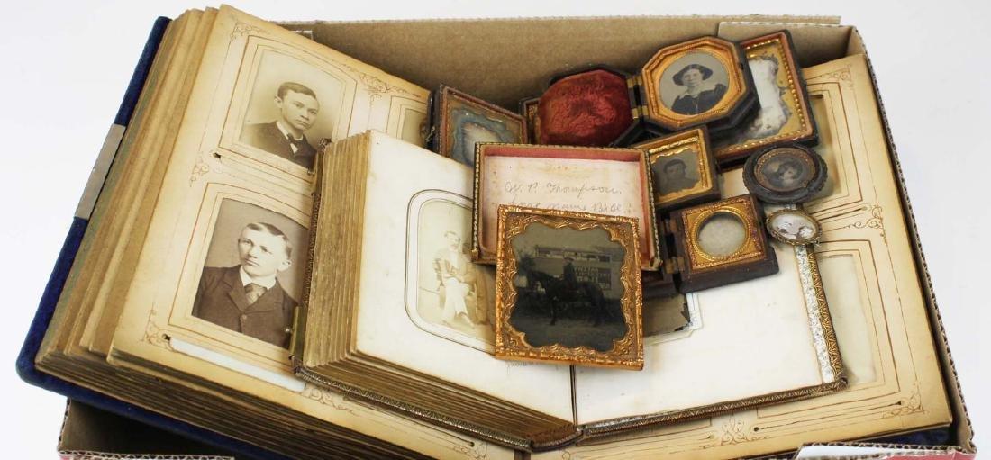 late 19th c photos, photo album, folding cases