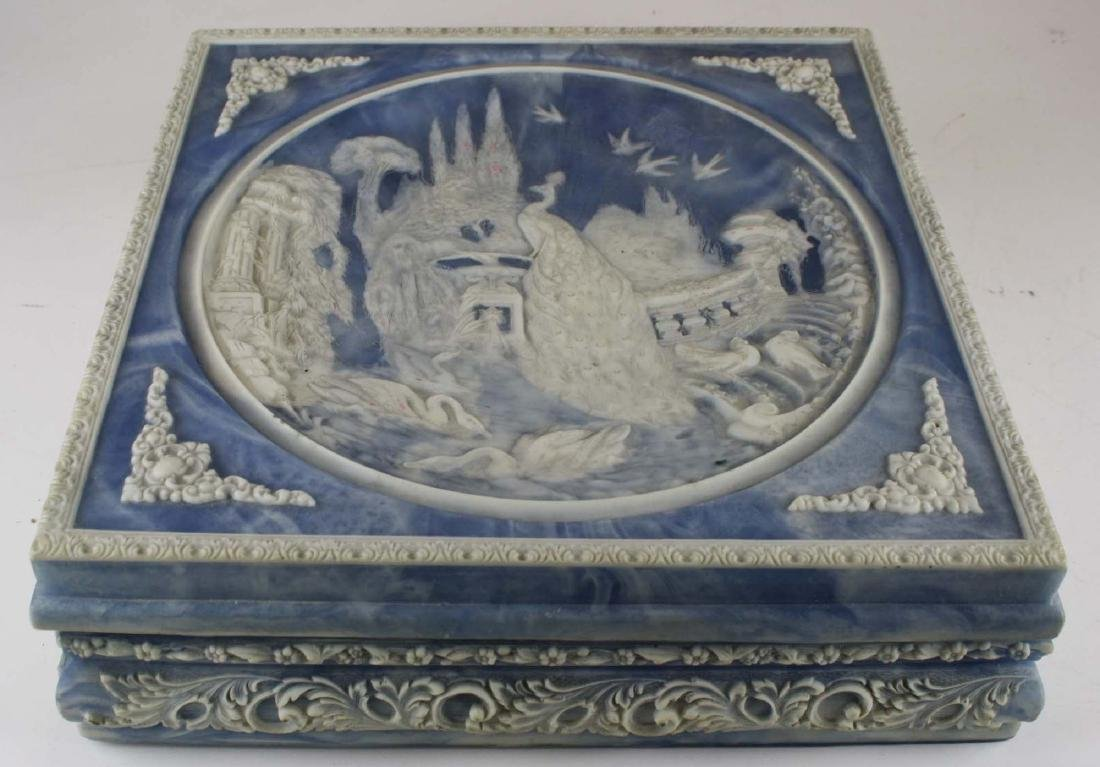 Incolay cultured marble jewelry casket