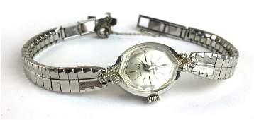 Ladies 14k w.g Jules Jurginsen wrist watch