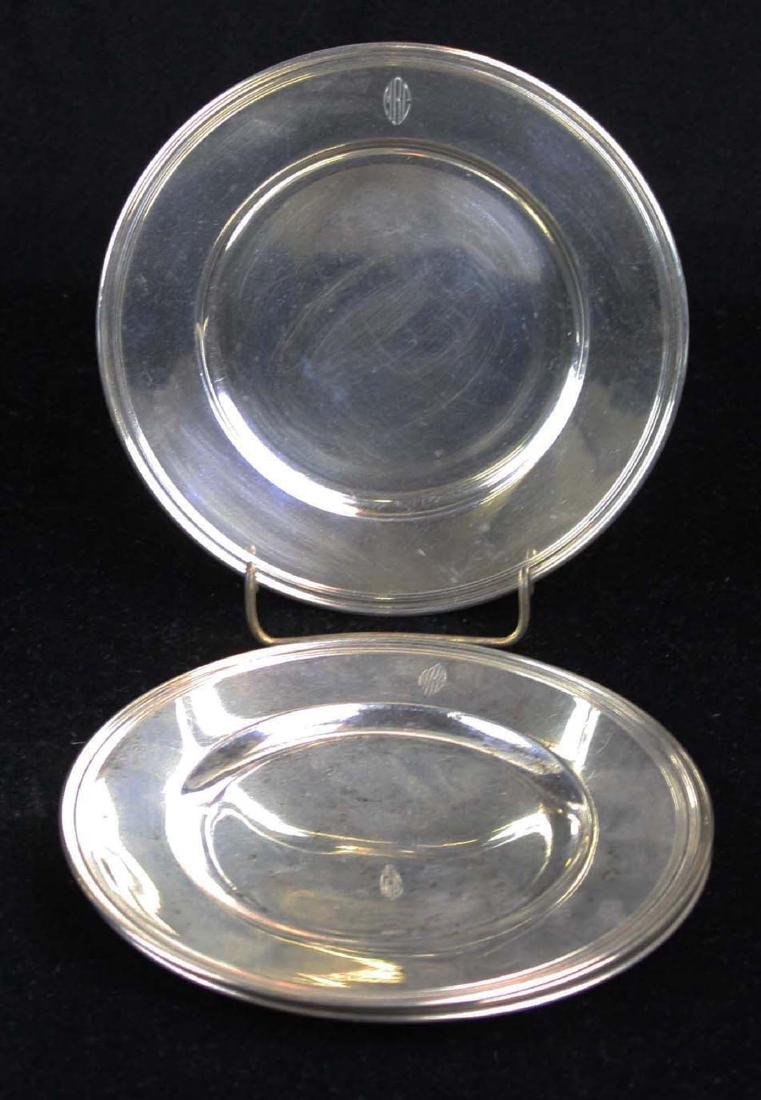 4 Tiffany & Co. sterling silver side plates
