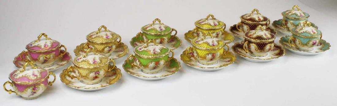 late 19th c Dresden Lamm porcelain bouillon cups - 4